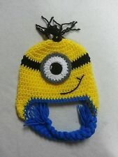 new minion from Despicable me crochet hat you pick the Size