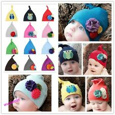 New Pretty Girl Toddler Cotton Flower Hats CHeadwear kids Soft winter caps