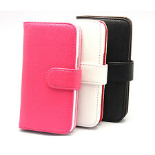 Wallet Synthetic Leather Case Cover Pouch For Samsung Galaxy Core LTE SM-G386F