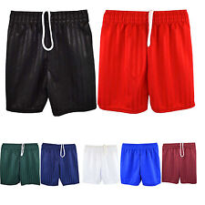 KIDS BOYS GIRLS ADULT UNISEX GYM SCHOOL SPORTS FOOTBALL SHADOW STRIP SHORTS