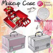 Stylish Butterfly Print Beauty Makeup Box Cosmetic/Nail/Hair Vanity Case