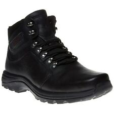 New Mens Rockport Black Elkhart Leather Boots Lace Up