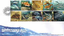 Sustainable Fish -  Royal Mail Stamps Mint FDE / FDC - 05.06.2014