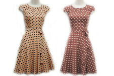 New Rosa Rosa Polkadot in Mocha or Nude WW2 1930's/40's style Wartime Tea Dress