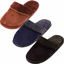 Mens Slippers Slides Slip On House Shoes Scuffs Faux Suede Comfy Indoor Outdoor