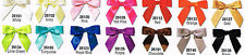 """Lot 72 Satin Ribbon Pre tied 3"""" Bows Wire Twist Ties Crafts Weddings Gifts Bags"""