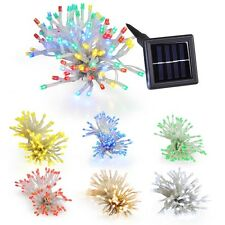 100 LEDs Waterproof Solar String Window Light Garden Cafe Holiday Wedding Decor