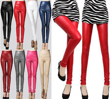 High Waisted Women's Polyester&Spandex Stretch Skinny Pants Leggings 10 Colours