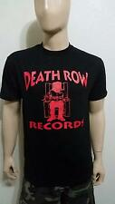 Death Row Records Black T-SHIRT RED LOGO 2pac hip hop LA RAPPERS  NWA TEE TUPAC