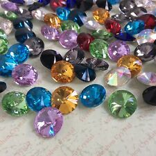 Mixed Colors Rivoli Point back Rhinestones Crystal Glass Chatons Strass