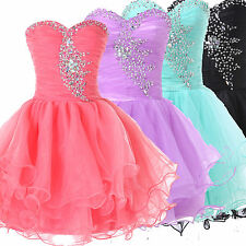 ON SALE~Sweet Mini Beaded SEXY Formal Party Evening Cocktail Prom Mini Dresses