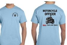 Motorcycle Police T-Shirt ~ Real Cops Eat Bugs