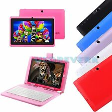 "7"" Android 4.4 KitKat Quad Core A33 Tablet PC 16GB WIFI 3G + Keyboard For Kids"