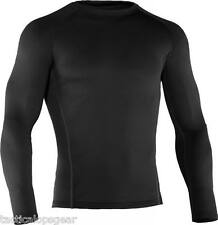 No Tags Under Armour ColdGear Base 2.0 Fitted Thermal Crew Shirt Black 1239724