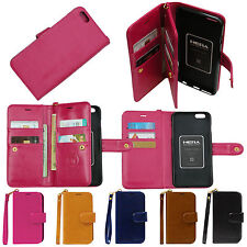 Double Wallet Case For Apple iPhone 6, 6 Plus Synthetic Leather