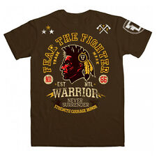 Fear the Fighter Kid's Warrior T-Shirt - Brown