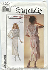 Simplicity Sew Pattern 8224 Wedding Gown Bridesmaid Dress Mother of Bride Uncut