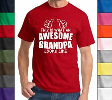 This Is What Awesome Grandpa Looks Like Funny T Shirt Grandfather Dad Gift Tee