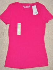 MARKS AND SPENCER CREW NECK T-SHIRT IN HOT PINK WITH STAYNEW SIZE 10 TO 24 BNWT