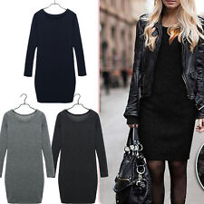 Hot Womens Autumn/Winter Mirco Velvet Round Collar Woolen Thickening Dress Skirt
