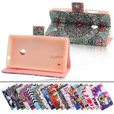 for nokia lumia n520 wallet pu leather magnetic flip stand case cover skin pouch
