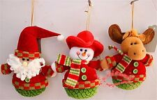 Fabric Hang Decorations Elk Snowman Christmas Doll Decor Christmas Holiday Gift