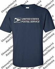 USPS POSTAL T-SHIRT NAVY BLUE FULL 2 COLOR POSTAL LOGO ON CHEST ALL SIZES S - 3X