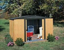 Stainlees Steel Garden Shed with Painted Wood Grain Finish [ID 264277]