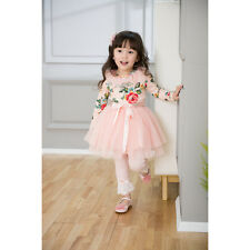 Pink Flower Girl Dress Princess Vintage Special Occasion Party Skirt Size 2-6