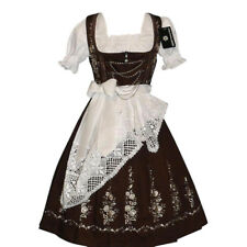 DIRNDL Trachten Oktoberfest Dress German 3 pc LONG EMBROIDERED Waitress Swing