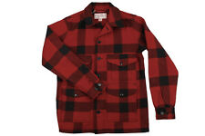 Filson Wool Mackinaw Cruiser Seattle Fit Mens Lifestyle Casual Red Black Jacket