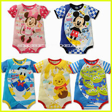 Baby Toddler Summer Romper Bodysuit Onesie Outfit Clothes Cartoon Characters
