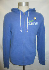 Seattle Seahawks Men's Full Zip Hooded Sweatshirt  Blue