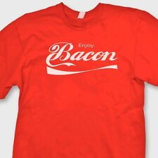 Enjoy BACON Funny Pork Lovers T-shirt Soft Drink Parody Gag Gift Tee Shirt