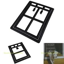 #QZO New Black Easy Screen Pet Door for Small Medium Large Dogs Cats Home Gate