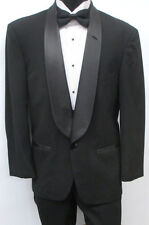 Black Christian Dior One Button Shawl Tuxedo Package Wedding Prom Formal 40R