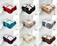 Luxury Sherpa FleeceThrow Blanket Soft Flannel Blankets For Bed Sofa 9 Colors