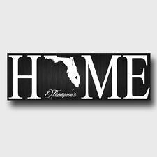 Home State Colored Custom Personalized Family Canvas Print 8x24 - 50 states!