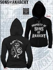 Authentic Sons Of Anarchy Property Of Soa Zip Up Juniors Hoodie Sweat Shirt S-Xl