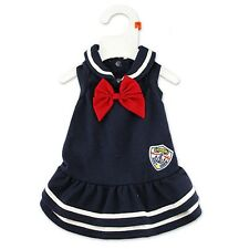 Dog Clothes Cat Navy Style Skirt Pet Clothing Puppy Tie Design Apparel Costume