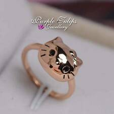 Cute Kitty Cat SWAROVSKI Crystal Ring W/ 18CT Rose Gold Plated