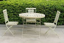 Shabby Chic Iron Patio Furniture Bistro sets.