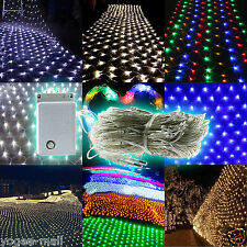Led Xmas Lightings Outdoor Stage Evening String Fence Net Mesh Light Lamps Bulb