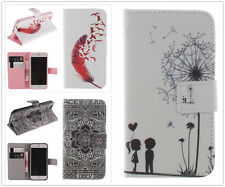 Tribal Feather Dandelion Flip Leather Skin Wallet Case Cover For Mobile Phones