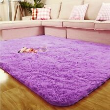 Shaggy Soft Anti-skid Area Rug Dining room Carpet Bedroom Square Floor Mat