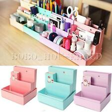 DIY Fold Board Paper Storage Box Organizer Makeup Cosmetic Stationery Desk Decor