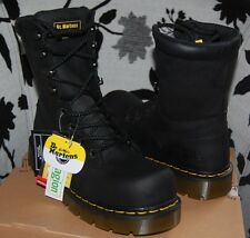NIB Dr Martens Black Saltaire ST Steel Toe 8-Tie Safety/Industrial/Work Boots