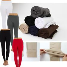 Women Warm Winter Skinny Slim Solid Color Leggings Stretch Pants Thick Footless