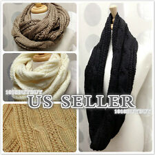 us seller-NEW Women Winter Fashion Knit Cable Infinity Scarf Beautiful Soft!