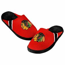 Blackhawks Jersey Mesh SLIDE SLIPPERS New - FREE SHIPPING - Chicago Blackhawks